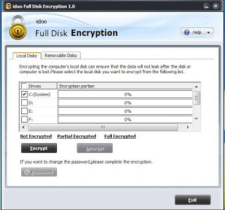 برنامج idoo Full Disk Encryption